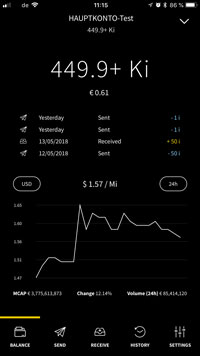 IOTA Trinity Wallet for IOS and Android