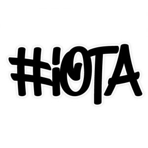 IOTA hashtag sticker graffity style