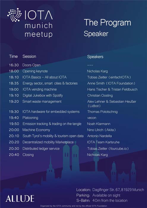 Speaker List IOTA Meetup Munich Hands On