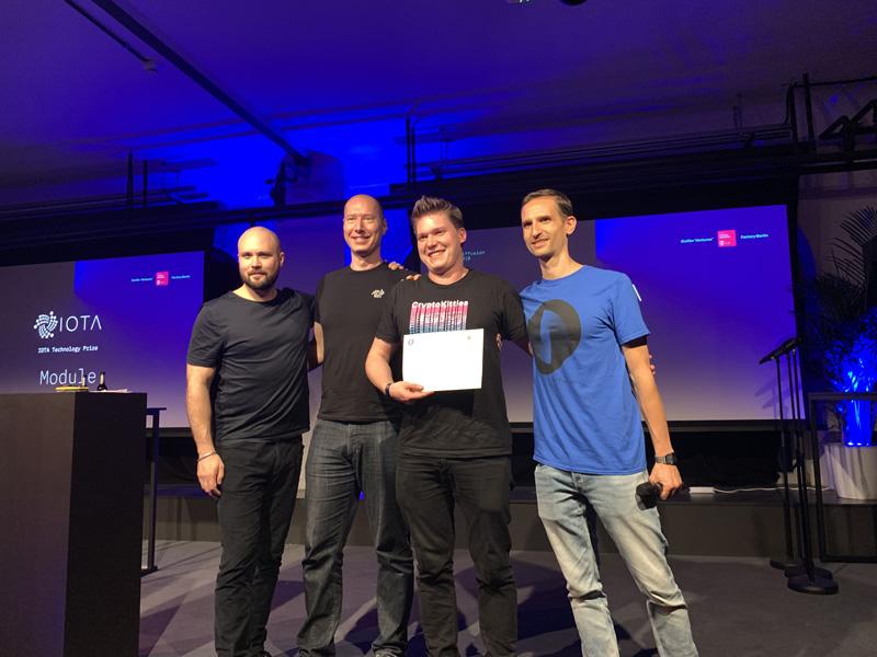 Gewinner in der IOTA Kategorie auf der Diffusion 2019