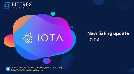 iota listed at bittrex global exchange
