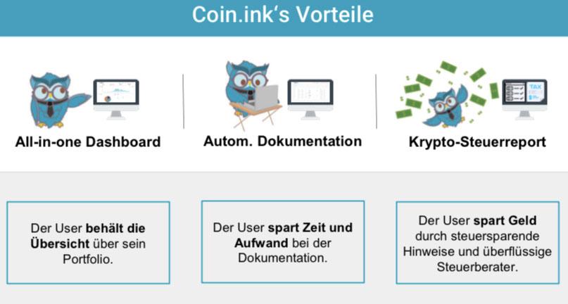 Coin.ink Vorteile