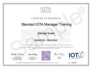 IOTA Manager Course Certificate