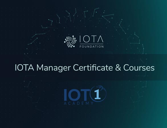 IOTA Manager Course Certification